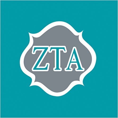 Unbekannt Creative Converting 50Zählen Zeta Tau Alpha Getränke Servietten, Grau/Blaugrün