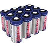 Tenergy 3V CR123A Lithium Batteries PTC Protected - 12 Pack