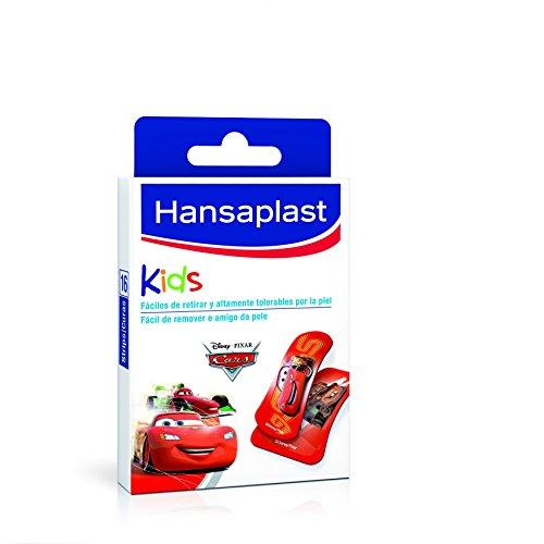 Hansaplast Kids Pflaster mit Cars Motiv, leicht zu entfernen und extrem hautverträglich, 16 Stück