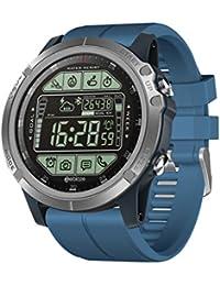 2019 Nuovo Smartwatch, Fitness Activity Tracker, Smartwatch con display da 1,24 pollici, orologio sportivo impermeabile per IOS/Android per donna, uomo, contapassi, contacalorie (Blu)