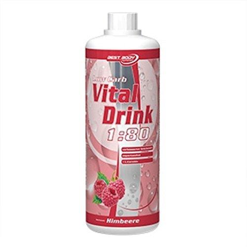 Best Body Nutrition Low Carb Vital Drink, 1L Flasche , Grüntee-Limette (3er Pack)