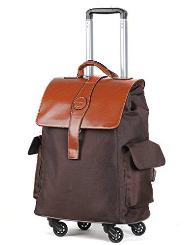 Kann Schulter zurück sein kann kann ziehen kann tragbar ein Satz von Mehrzweck-Trolley-Tasche Reisetasche Universal-Rad Hochleistungs-Gepäck Tasche ( Farbe : 3 , größe : 20 inchs ) 3