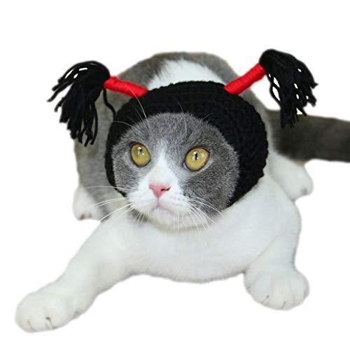 Up handgemachte Katze Hut Kopfschmuck Brünette kleine Skorpion Katze Hut lustige Haustier Hut Hund Kopf Abdeckung Katze (größe : L) ()