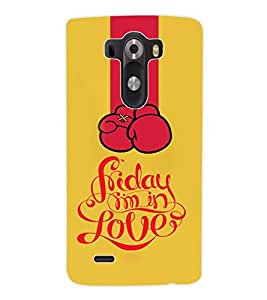 ColourCraft Love Back Case Cover for LG G3 D855