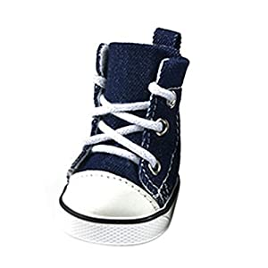Etosell 4 pcs Chaussures de Soport en Denim Bleu pour Chien Chiot XS-XL