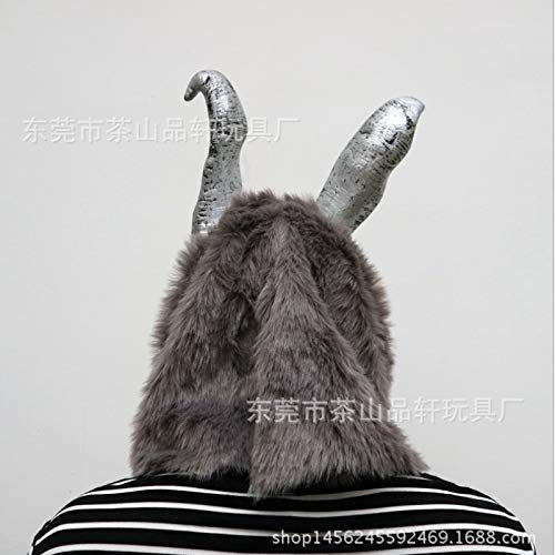baoqsure Die Wütende Kaninchenmaske Frank Es Böse Silberne Kaninchen Halloween Latex-Masken