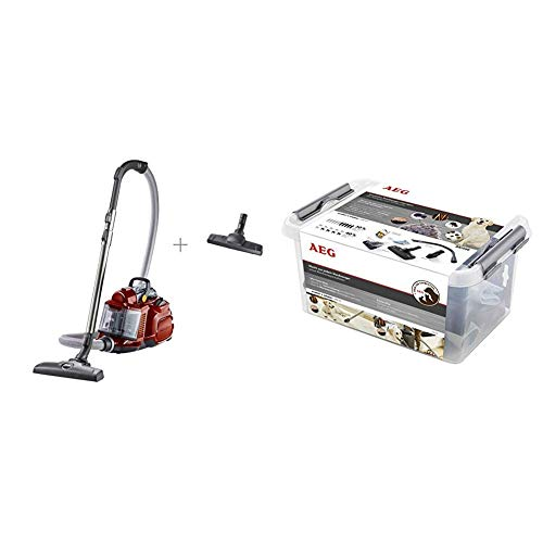AEG LX7-2-CR-A Floor Vacuum Cleaner 750W + Extension Set Allergy & Animal Care for Pipe Auger Flexible Crevice Tool