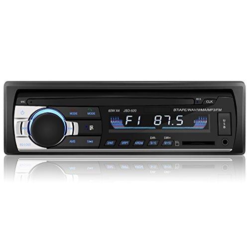 YOHOOLYO Auto Radio Freisprecheinrichtung Auto FM MP3-Player USB/SD/AUX Anschluss mit Fernbedienung und ISO-Kabel (Autoradio Iso)
