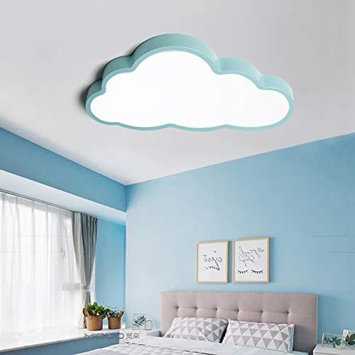 LIUNIAN Ultradünne Deckenleuchte Led 5cm Kreative Wolken Intelligente Regulierung Cartoon Einfache Deckenleuchte Beleuchtung Für Jungen Mädchen Schlafzimmer Kindergarten Mit Fernbedienung