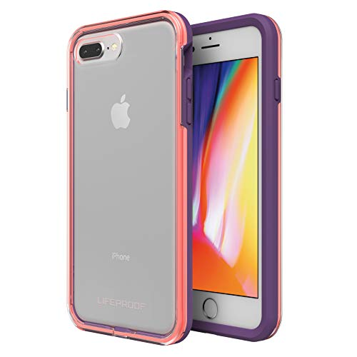 Lifeproof SL-SM-Serie Schutzhülle für iPhone - Einzelhandelsverpackung - Aloha Sunset, iPhone 8 Plus & 7 Plus (nur), Free Flow (Clear/Fusion Coral/Royal Lilac) - Free-flow-dance