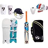 PIXLTOUCH SG Cricket Set with Helmet (Ideal for 11-14 Years Child) Cricket Kit (Color May Very)