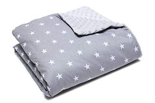 Babydecke, Kuscheldecke, Fleecedecke 100% Baumwolle, hergestellt in Europa (Sterne)