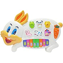 Popsugar Rabbit Music Organ Set with 3 Lights, Beige (Biege,TH3300BE)