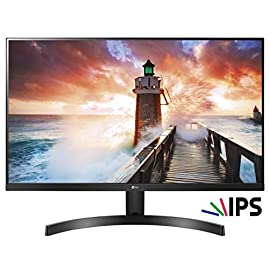 LG 24MK600M Monitor, 24 Pollici, LED IPS Full HD 1920 x 1080, 5 ms, Radeon FreeSync 75 Hz, Multitasking, VGA, HDMI, Borderless, Nero