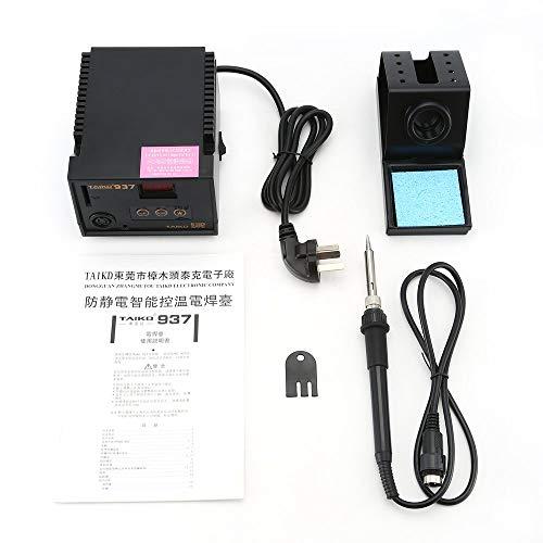 BlakeSha36 937 LED Pantalla Digital Estación de Soldadura sin Plomo 70W Soldador eléctrico Negro