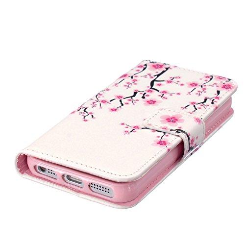iPhone 5S Coque, cowx Étui de protection Etui en cuir pour iPhone 5S 5Étui en cuir PU Case Coque, iPhone 5, iPhone 5S 5Case, housse support portefeuille pour iPhone 5S 5poches Bols für Apple Iphone Foto5