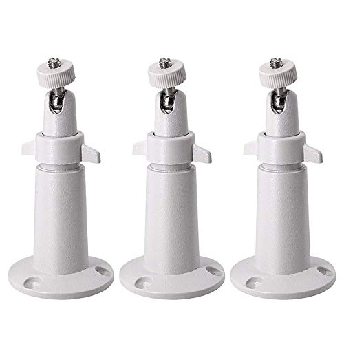 XZANTE 3 Pack Metall Halterung Für Arlo/Arlo Pro überwachungs Kamera Wand/Decken, Verstellbare Innen/Au?en Halterung Für Arlo,Arlo Pro,CCTV Kamera und Andere Kompatible Modelle (Wei?)