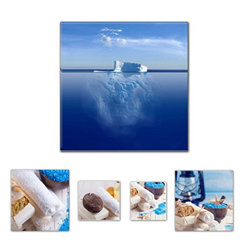 eco-light-wall-art-canvas-bundle-fascinating-iceberg-in-water-315-x-315-inch-for-home-dcor-and-charm