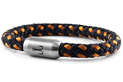 """Fischers Fritze® Segeltau Armband MAKRELE 2.0\"""" Marineblau Orange, 22.0"""