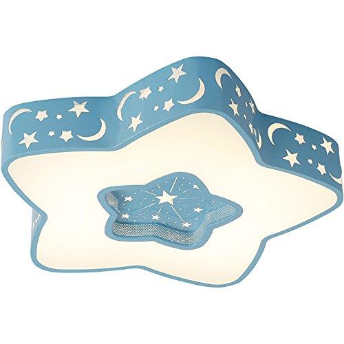 Kinderzimmerlampe Stern Babylampe Star Lampe Led Baby Licht Sternen Kinderlampe Deckenlampe Deckenleuchte Kinderzimmer Junge Leuchte Kinder Schlafzimmerlampe Schlafzimmer Zimmerlampe (Dimmbare 50 CM, Blau)