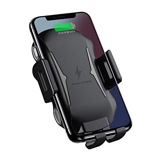 LIDIWEE qi drahtlose Ladegerät, Automobiltelefonhalter, 2-in-1 Auto magnetische Induktion Ladegerät, schnelle Ladehalterung, schwarz - Verizon Lucid Fällen Telefon Lg Für