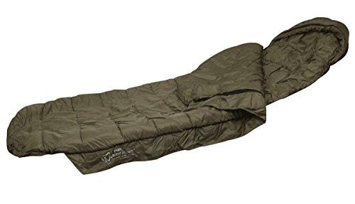 Fox Warrior Sleeping Bag Schlafsack für Angler zum Karpfenangeln & Nachtangeln, Angelschlafsack, Anglerschlafsack Fox Chunk Crew Pouch Sweatshirt Green Marl Pullover (Bag Fox Fur)