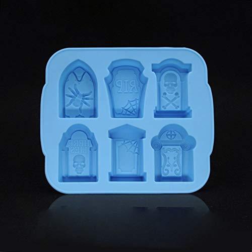 Candyboom 3D Silikon Grabstein Eiswürfelform Wein Eiswürfelschale Maker Eiswürfelschale Für Kicthen Halloween Backen Werkzeuge