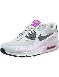 Nike Wmns Air Max 90 Essential, Zapatillas de Deporte para Mujer, Gris Rojo