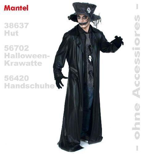 Mantel Black Coat Umhang XXL Halloween Lederoptik Unisex