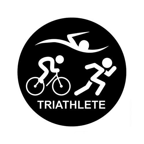 JXYY 13,3 cm * 13,3 cm kreative mode persönlichkeit Triathlon schwimmen laufen heimtrainer auto aufkleber