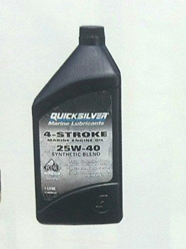 Öl Quicksilver Kunststoff für Außenbordmotoren, innerhalb und entrofuoribordo 4Takt Nautica 6Stück (4-takt Außenbordmotor-öl)