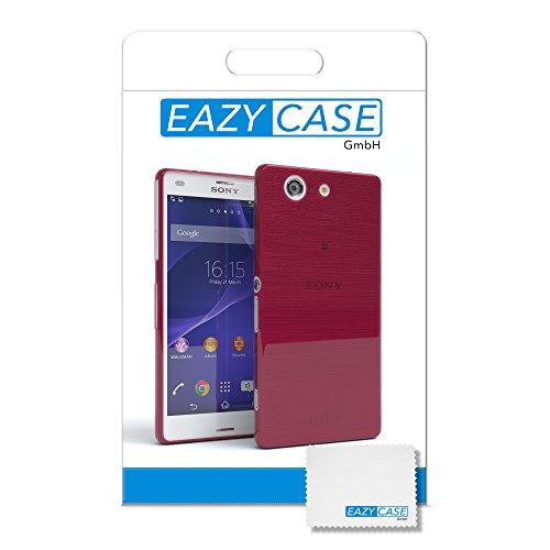 """EAZY CASE Handyhülle für Sony Xperia Z3 Compact Hülle - Premium Handy Schutzhülle Slimcover """"Clear"""" hochwertig und kratzfest - Transparentes Silikon Backcover in Klar / Durchsichtig Brushed Pink"""
