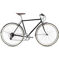 6Ku City Bike Delano Matte Black, 8vitesses, vélo, City Bike, Ville