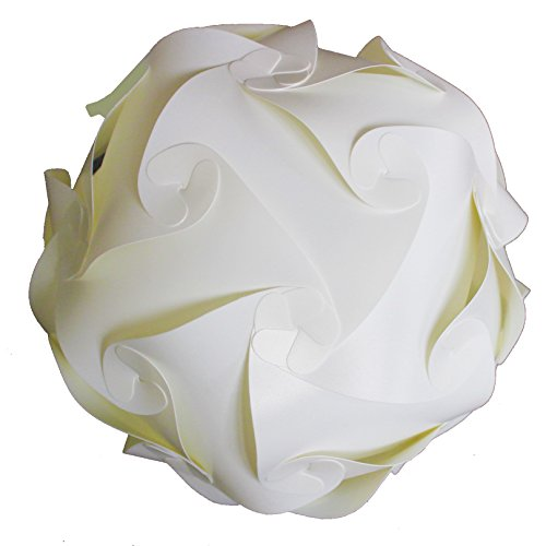 Raylinedo® DIY parte Decoration-–Lámpara de techo Pantalla de lámpara de Puzzle–Puzzle de lunares–para montaje en casa, diámetro de 30cm), color blanco