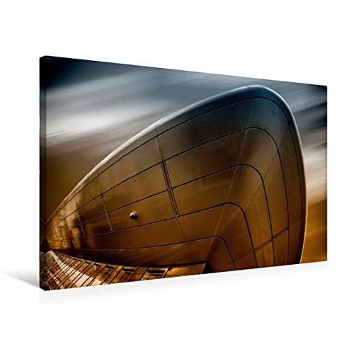 Calvendo Premium Textil-Leinwand 75 cm x 50 cm quer, Hitachi Gebäude | Wandbild, Bild auf Keilrahmen, Fertigbild auf echter Leinwand, Leinwanddruck Orte Orte -