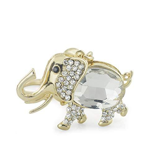 DCFVGB Elefant Große Kristall Armband Anhänger Schlüsselanhänger Schlüsselbund Brieftasche Tasche Schnalle Auto Schlüsselbund Modeschmuck