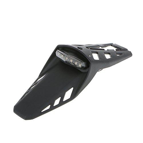 MagiDeal Universale LED Moto off-Road Dirt Parafango Luce Coda Del Freno Faro Posteriore con Staffa