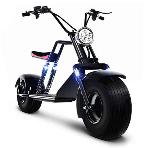 DOS Elektroroller Scooter Harley Two Elektroroller Scooter 1500 Watt Motor bis zu 50 km Reichweite, Max. Geschwindigkeit 40 km/h,Black