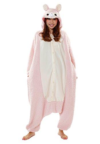 Sazac Kigurumi Alpaka Alpaca Pink oder Blau Kostüm Schlafanzug Overall - Kigurumi Kostüm Schlafanzug