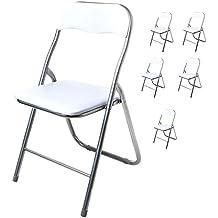 Amazon.es: silla plegables blanca - 2 estrellas y más