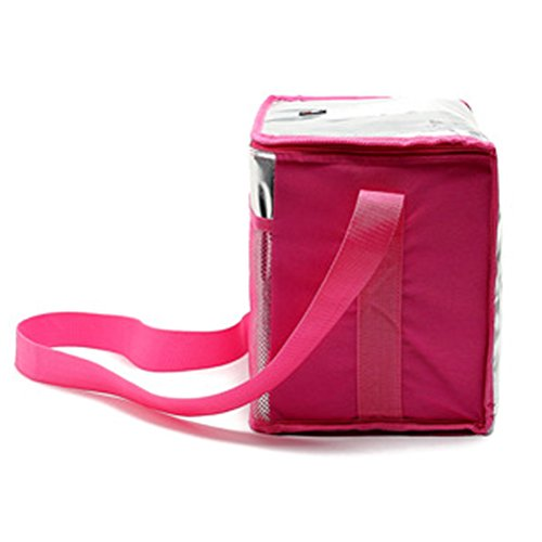 Zhhlaixing High-quality All'aperto Insulated Cooler Bag Picnic Lunch Bag Shoulder Bag Adjustable Rose Red