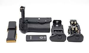 QUMOX 2x LP-E6 + Vertical BG-E13 Poignées d'alimentation batterie Grip pour Canon EOS 6D Digital SLR Camera