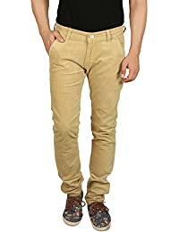 Nimegh Cod Green Colored Corduroy Casual Solid Trouser For Men's