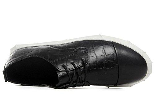CSDM Men's Respiratory Students Chaussures de sport Sneakers Outdoor Running Casual Shoes Black