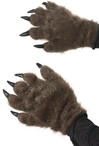 KULTFAKTOR GmbH Haarige Monster-Handschuhe braun Einheitsgröße
