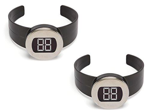 2er Set digitale Weinthermometer zum Anklemmen, Flaschenthermometer für Getränke