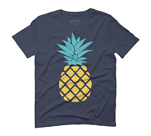 Pineapples Men's Graphic T-Shirt - Design By Humans Navy
