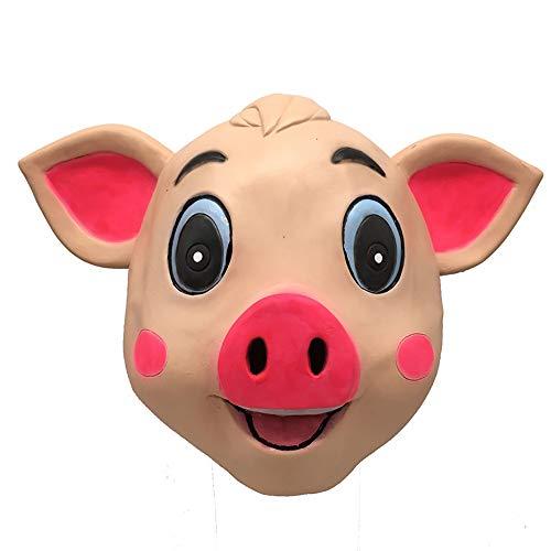opfbedeckung Schwein Vollgesichtsmaske Halloween Aprilscherz Kostüm Party Kreative Supplies Cute Pig Show Requisiten ()
