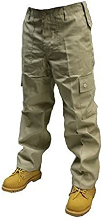 Dallaswear Adults 6 Pocket Army Combat Trousers Cargos W28-56 Short, Reg & Long Legs in 18 Colours!