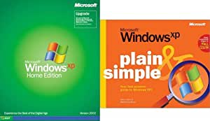 Windows XP Home Edition Upgrade & FREE Plain & Simple Book
